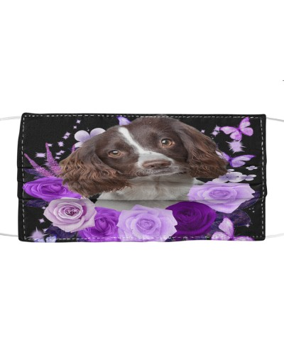 English Springer Spaniel-Face Mask-Purple