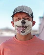 Samoyed-Mask Mouth Cloth face mask aos-face-mask-lifestyle-06