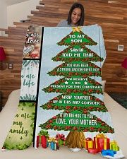 """Big present for this Christmas Large Fleece Blanket - 60"""" x 80"""" aos-coral-fleece-blanket-60x80-lifestyle-front-04"""