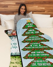"""Big present for this Christmas Large Fleece Blanket - 60"""" x 80"""" aos-coral-fleece-blanket-60x80-lifestyle-front-05"""