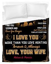 CUSTOM GIFT - LOVE YOU MORE THAN HUNTING Duvet Cover tile