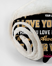 """CUSTOM GIFT - LOVE YOU MORE THAN HUNTING Small Fleece Blanket - 30"""" x 40"""" aos-coral-fleece-blanket-30x40-lifestyle-front-18"""