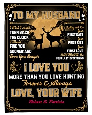 """CUSTOM GIFT - LOVE YOU MORE THAN HUNTING Small Fleece Blanket - 30"""" x 40"""" front"""