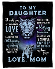 """Joy and Peace - Lioness ver Small Fleece Blanket - 30"""" x 40"""" front"""