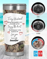Find your way back me - Custom Hunting gift 20oz Tumbler aos-20oz-tumbler-lifestyle-front-44