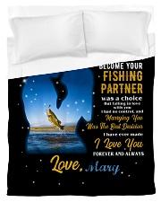 CUSTOM VALENTINE'S GIFT - YOUR FISHING PARTNER 2 Duvet Cover tile