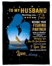 "CUSTOM VALENTINE'S GIFT - YOUR FISHING PARTNER 2 Small Fleece Blanket - 30"" x 40"" front"