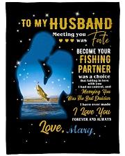 CUSTOM VALENTINE'S GIFT - YOUR FISHING PARTNER 2 Fleece Blanket tile