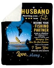 CUSTOM VALENTINE'S GIFT - YOUR FISHING PARTNER 2 Sherpa Fleece Blanket tile
