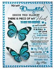 """Believe in you - Daughter Small Fleece Blanket - 30"""" x 40"""" front"""