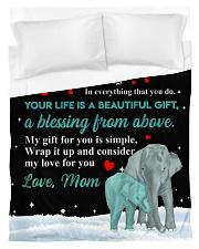 Joy and Peace - Elephant ver Duvet Cover tile
