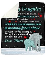 Joy and Peace - Elephant ver Sherpa Fleece Blanket tile