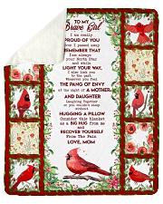 Brave girl - floral background Sherpa Fleece Blanket tile