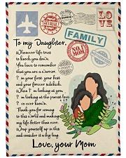 Letter to daughter Fleece Blanket tile