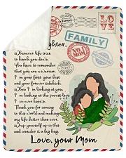 Letter to daughter Sherpa Fleece Blanket tile