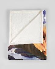 "CUSTOM VALENTINE'S GIFT - YOUR FISHING PARTNER Small Fleece Blanket - 30"" x 40"" aos-coral-fleece-blanket-30x40-lifestyle-front-17"