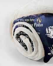 "CUSTOM VALENTINE'S GIFT - YOUR FISHING PARTNER Small Fleece Blanket - 30"" x 40"" aos-coral-fleece-blanket-30x40-lifestyle-front-18"