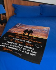"""CUSTOM VALENTINE'S GIFT - YOUR FISHING PARTNER 3 Small Fleece Blanket - 30"""" x 40"""" aos-coral-fleece-blanket-30x40-lifestyle-front-02a"""