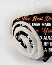 "CUSTOM VALENTINE'S GIFT - YOUR FISHING PARTNER 3 Small Fleece Blanket - 30"" x 40"" aos-coral-fleece-blanket-30x40-lifestyle-front-18"