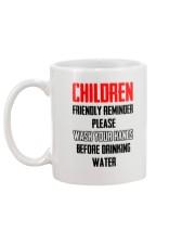 Friendly reminder Mug back