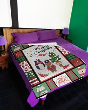 """BEARRY CHRISTMAS - MOTHERHOOD Large Fleece Blanket - 60"""" x 80"""" aos-coral-fleece-blanket-60x80-lifestyle-front-01"""