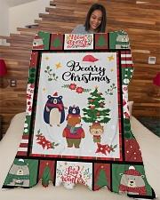 """BEARRY CHRISTMAS - MOTHERHOOD Large Fleece Blanket - 60"""" x 80"""" aos-coral-fleece-blanket-60x80-lifestyle-front-04"""