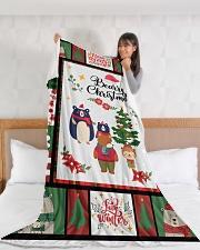 """BEARRY CHRISTMAS - MOTHERHOOD Large Fleece Blanket - 60"""" x 80"""" aos-coral-fleece-blanket-60x80-lifestyle-front-11"""