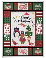 """BEARRY CHRISTMAS - MOTHERHOOD Large Fleece Blanket - 60"""" x 80"""" front"""