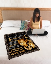 "I LOVE YOU SON Small Fleece Blanket - 30"" x 40"" aos-coral-fleece-blanket-30x40-lifestyle-front-11"