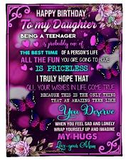 """Happy birthday - Teenage daughter  Small Fleece Blanket - 30"""" x 40"""" front"""
