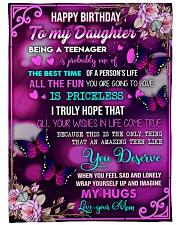 Happy birthday - Teenage daughter  Fleece Blanket tile