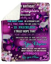 Happy birthday - Teenage daughter  Sherpa Fleece Blanket tile