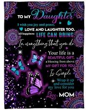 Your life is a beautiful gift Fleece Blanket tile