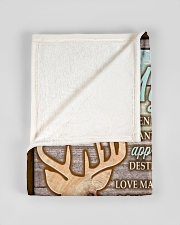 "CUSTOM HUNTING GIFT - LOVE MY DOE Small Fleece Blanket - 30"" x 40"" aos-coral-fleece-blanket-30x40-lifestyle-front-17"