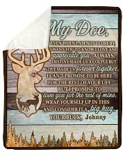 CUSTOM HUNTING GIFT - LOVE MY DOE Sherpa Fleece Blanket tile