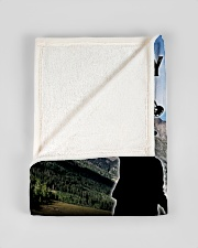 "CUSTOM VALENTINE'S GIFT - HUNTING PARTNER Small Fleece Blanket - 30"" x 40"" aos-coral-fleece-blanket-30x40-lifestyle-front-17"