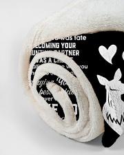 "CUSTOM VALENTINE'S GIFT - HUNTING PARTNER Small Fleece Blanket - 30"" x 40"" aos-coral-fleece-blanket-30x40-lifestyle-front-18"