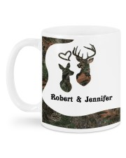 Personalized Hunting gift - the Rifle and the Rack Mug back