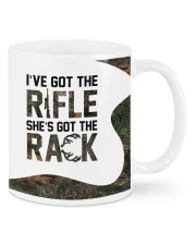 Personalized Hunting gift - the Rifle and the Rack Mug front