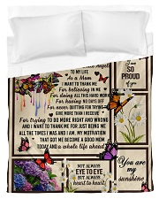 I want to thank me - butterfly woman Duvet Cover tile