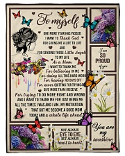 """I want to thank me - butterfly woman Small Fleece Blanket - 30"""" x 40"""" front"""