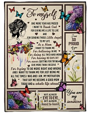 I want to thank me - butterfly woman Fleece Blanket tile