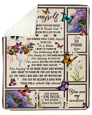 I want to thank me - butterfly woman Sherpa Fleece Blanket tile
