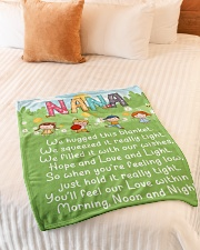 "MORNING NOON AND NIGHT NANA Small Fleece Blanket - 30"" x 40"" aos-coral-fleece-blanket-30x40-lifestyle-front-01"