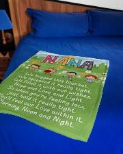 "MORNING NOON AND NIGHT NANA Small Fleece Blanket - 30"" x 40"" aos-coral-fleece-blanket-30x40-lifestyle-front-02"