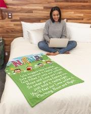 "MORNING NOON AND NIGHT NANA Small Fleece Blanket - 30"" x 40"" aos-coral-fleece-blanket-30x40-lifestyle-front-08"