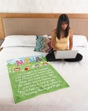 "MORNING NOON AND NIGHT NANA Small Fleece Blanket - 30"" x 40"" aos-coral-fleece-blanket-30x40-lifestyle-front-11"
