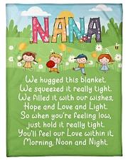 "MORNING NOON AND NIGHT NANA Small Fleece Blanket - 30"" x 40"" front"