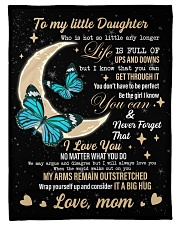 """I LOVE YOU - DAUGHTER Small Fleece Blanket - 30"""" x 40"""" front"""