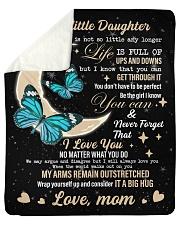 I LOVE YOU - DAUGHTER Sherpa Fleece Blanket tile